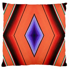 Diamond Shape Lines & Pattern Large Flano Cushion Case (One Side)