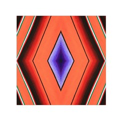 Diamond Shape Lines & Pattern Small Satin Scarf (Square)