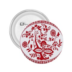 Red Vintage Floral Flowers Decorative Pattern 2 25  Buttons