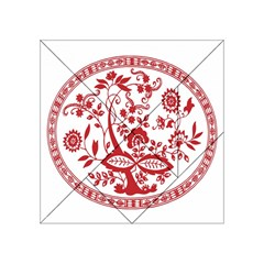 Red Vintage Floral Flowers Decorative Pattern Acrylic Tangram Puzzle (4  x 4 )