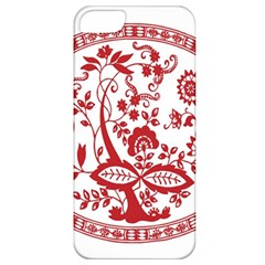 Red Vintage Floral Flowers Decorative Pattern Apple iPhone 5 Classic Hardshell Case