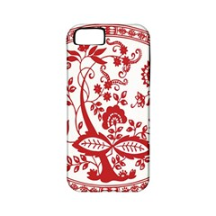 Red Vintage Floral Flowers Decorative Pattern Apple iPhone 5 Classic Hardshell Case (PC+Silicone)