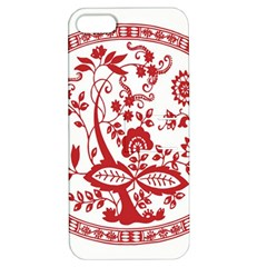 Red Vintage Floral Flowers Decorative Pattern Apple iPhone 5 Hardshell Case with Stand
