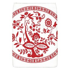 Red Vintage Floral Flowers Decorative Pattern Flap Covers (S)