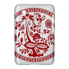 Red Vintage Floral Flowers Decorative Pattern Samsung Galaxy Tab 2 (7 ) P3100 Hardshell Case