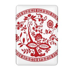 Red Vintage Floral Flowers Decorative Pattern Samsung Galaxy Tab 2 (10 1 ) P5100 Hardshell Case