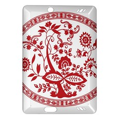 Red Vintage Floral Flowers Decorative Pattern Amazon Kindle Fire HD (2013) Hardshell Case