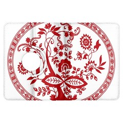 Red Vintage Floral Flowers Decorative Pattern Kindle Fire Hdx Flip 360 Case