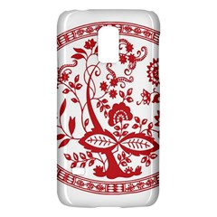 Red Vintage Floral Flowers Decorative Pattern Galaxy S5 Mini