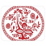 Red Vintage Floral Flowers Decorative Pattern Double Sided Flano Blanket (Medium)  60 x50 Blanket Back