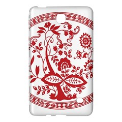Red Vintage Floral Flowers Decorative Pattern Samsung Galaxy Tab 4 (7 ) Hardshell Case