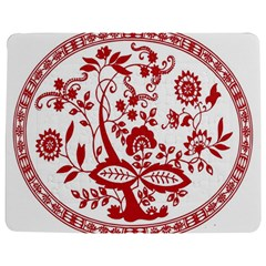 Red Vintage Floral Flowers Decorative Pattern Jigsaw Puzzle Photo Stand (rectangular)