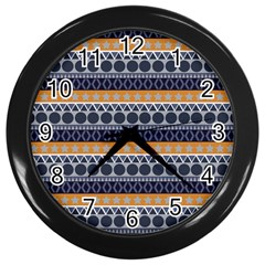 Abstract Elegant Background Pattern Wall Clocks (Black)
