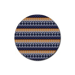 Abstract Elegant Background Pattern Rubber Round Coaster (4 pack)