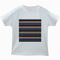 Abstract Elegant Background Pattern Kids White T-Shirts