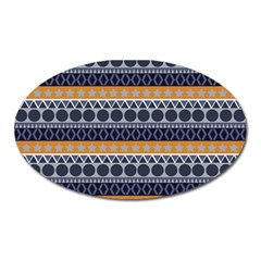 Abstract Elegant Background Pattern Oval Magnet