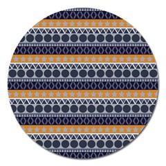Abstract Elegant Background Pattern Magnet 5  (Round)