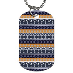 Abstract Elegant Background Pattern Dog Tag (Two Sides)