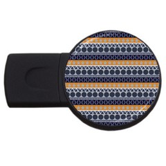 Abstract Elegant Background Pattern USB Flash Drive Round (1 GB)