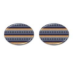 Abstract Elegant Background Pattern Cufflinks (Oval)