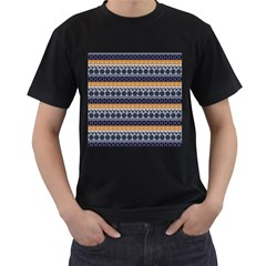 Abstract Elegant Background Pattern Men s T-Shirt (Black)