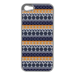 Abstract Elegant Background Pattern Apple iPhone 5 Case (Silver)
