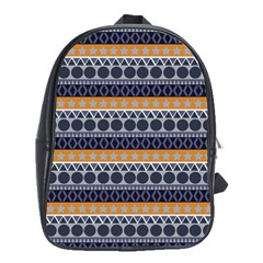 Abstract Elegant Background Pattern School Bags (XL)