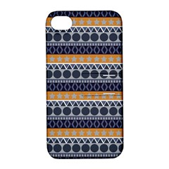 Abstract Elegant Background Pattern Apple iPhone 4/4S Hardshell Case with Stand