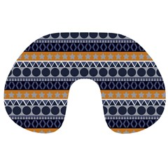 Abstract Elegant Background Pattern Travel Neck Pillows