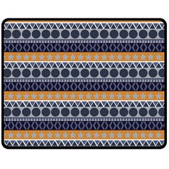 Abstract Elegant Background Pattern Double Sided Fleece Blanket (Medium)