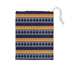Abstract Elegant Background Pattern Drawstring Pouches (Large)