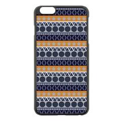 Abstract Elegant Background Pattern Apple iPhone 6 Plus/6S Plus Black Enamel Case