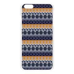 Abstract Elegant Background Pattern Apple Seamless iPhone 6 Plus/6S Plus Case (Transparent)