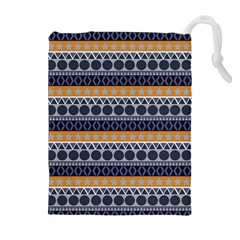 Abstract Elegant Background Pattern Drawstring Pouches (Extra Large)