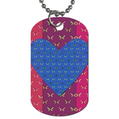 Butterfly Heart Pattern Dog Tag (one Side)