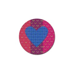 Butterfly Heart Pattern Golf Ball Marker (4 Pack)