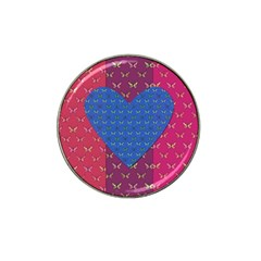 Butterfly Heart Pattern Hat Clip Ball Marker