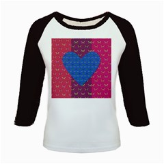 Butterfly Heart Pattern Kids Baseball Jerseys