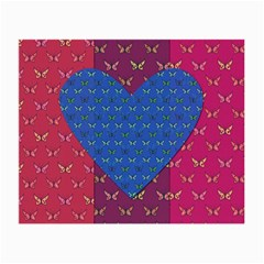 Butterfly Heart Pattern Small Glasses Cloth