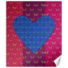 Butterfly Heart Pattern Canvas 20  X 24