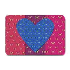 Butterfly Heart Pattern Small Doormat