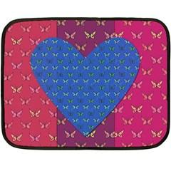 Butterfly Heart Pattern Fleece Blanket (mini)