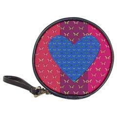Butterfly Heart Pattern Classic 20-CD Wallets