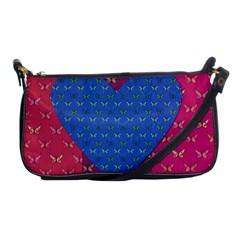 Butterfly Heart Pattern Shoulder Clutch Bags