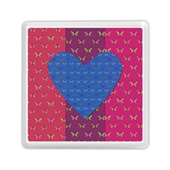 Butterfly Heart Pattern Memory Card Reader (square)