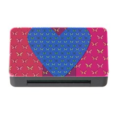 Butterfly Heart Pattern Memory Card Reader with CF