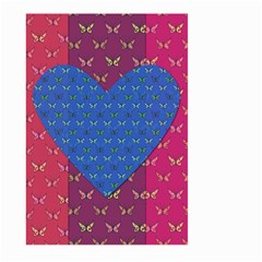 Butterfly Heart Pattern Large Garden Flag (Two Sides)