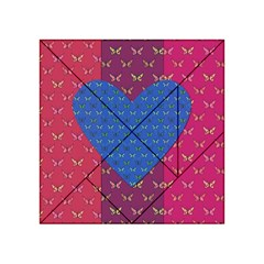 Butterfly Heart Pattern Acrylic Tangram Puzzle (4  x 4 )