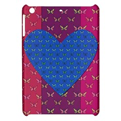 Butterfly Heart Pattern Apple Ipad Mini Hardshell Case