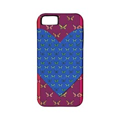 Butterfly Heart Pattern Apple iPhone 5 Classic Hardshell Case (PC+Silicone)